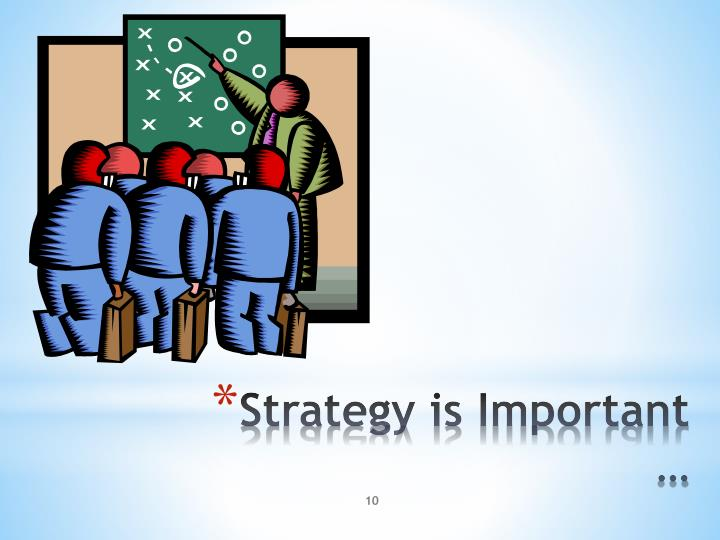 Strategy is Important …