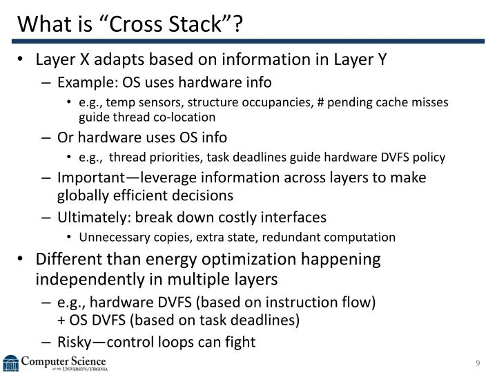 "What is ""Cross Stack""?"