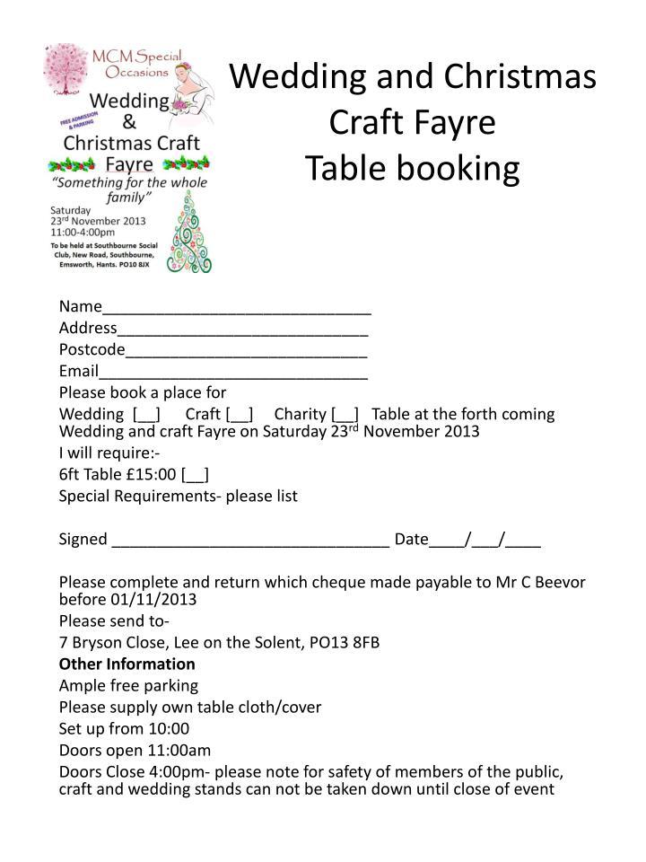 Wedding and Christmas Craft