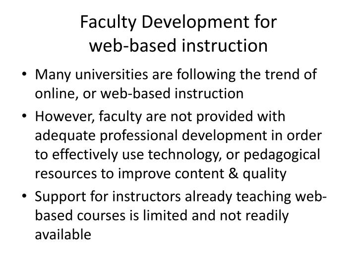 Faculty Development for