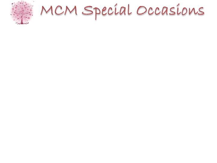 MCM Special Occasions