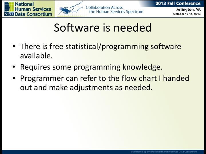 Software is needed