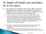 10 rights of health care providers vis vis users1
