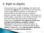 4 right to dignity