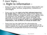 7 users rights 15 right to information