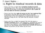 7 users rights 16 right to medical records data