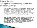 7 users rights 18 right to confidentiality information disclosure privacy