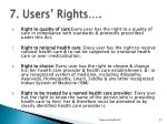 7 users rights