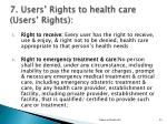 7 users rights to health care users rights1