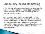 community based monitoring