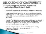 obligations of governments