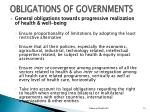 obligations of governments1