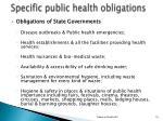 specific public health obligations2