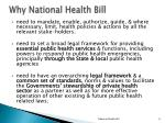 why national health bill