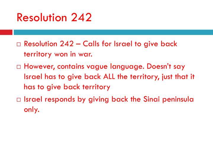 Resolution 242