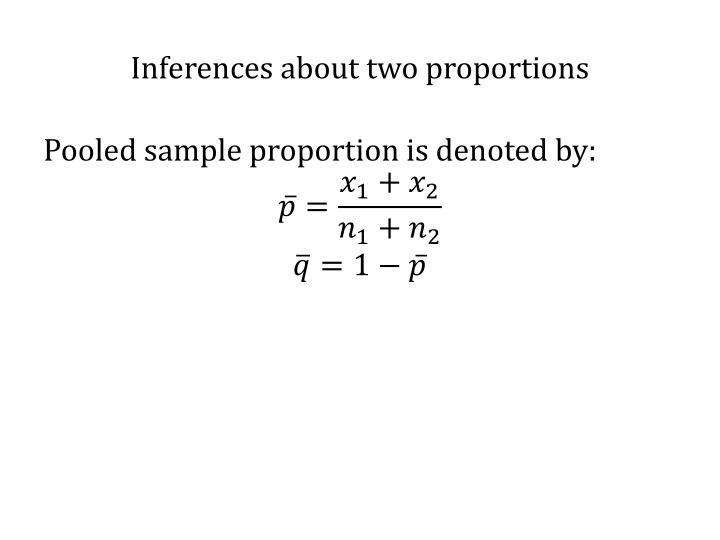 Inferences about two proportions