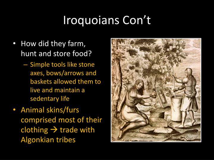 Iroquoians Con't