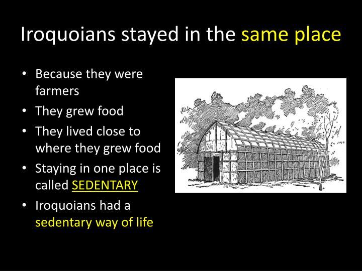 Iroquoians stayed in the