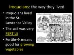 iroquoians the way they lived
