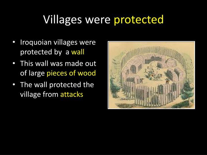 Villages were