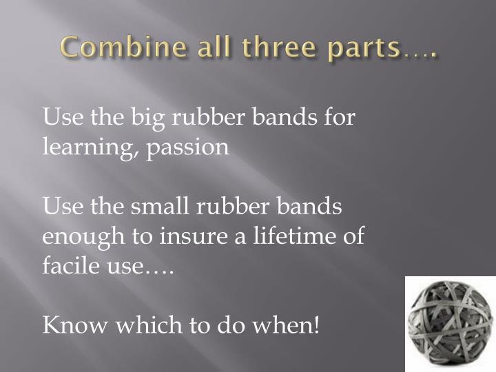Combine all three parts….