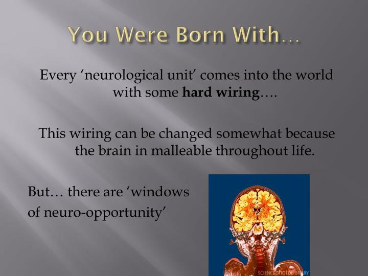 You Were Born With…
