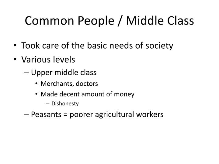 Common People / Middle Class