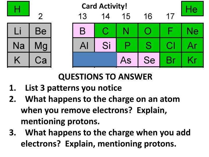 Card Activity!