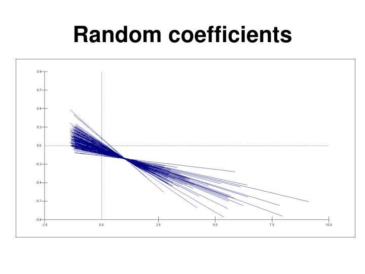 Random coefficients