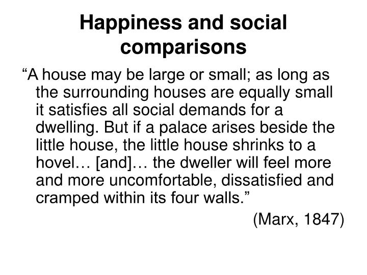 Happiness and social comparisons