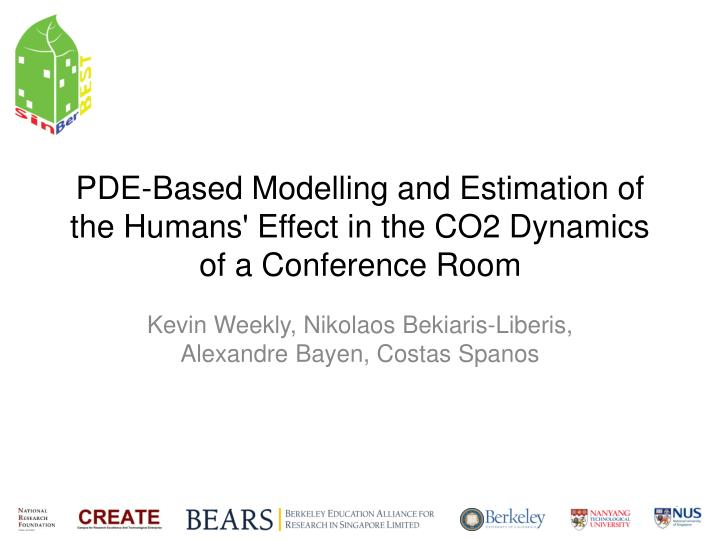 pde based modelling and estimation of the humans effect in the co2 dynamics of a conference room