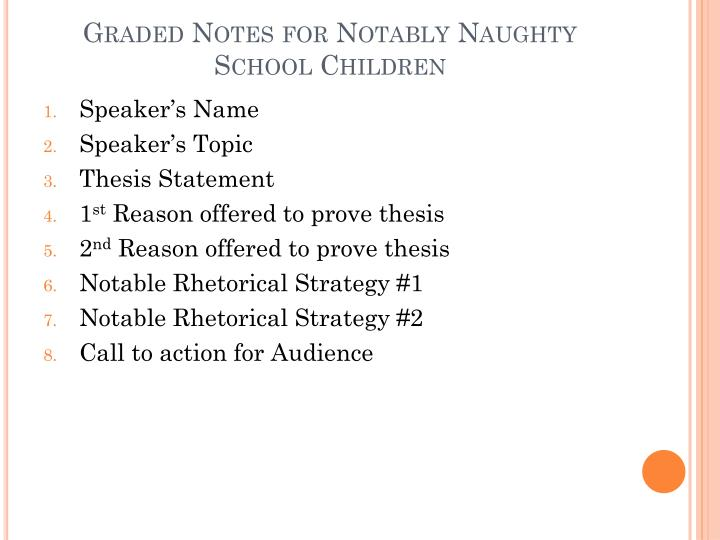 Graded Notes for Notably Naughty School Children