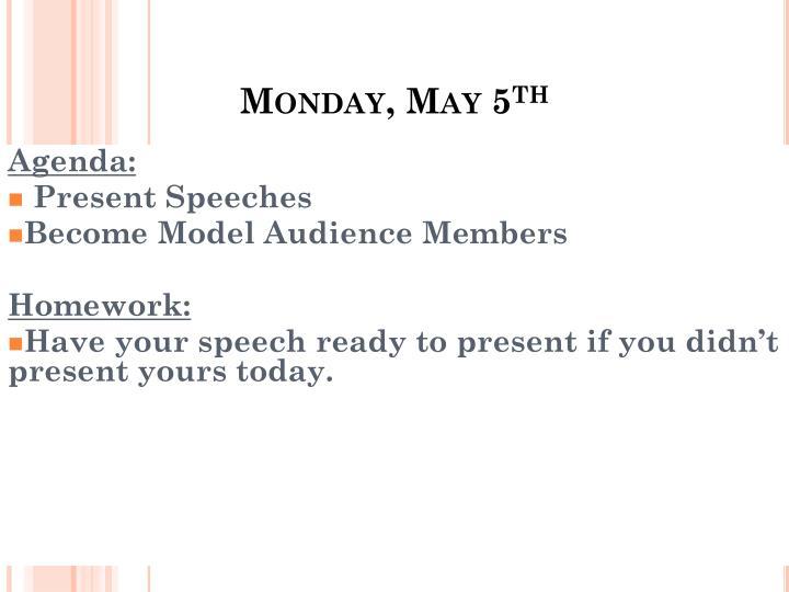 Monday, May 5