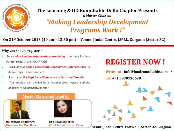 The Learning & OD Roundtable Delhi Chapter Presents