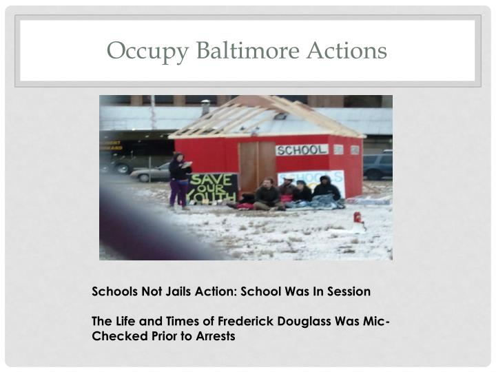Occupy Baltimore Actions