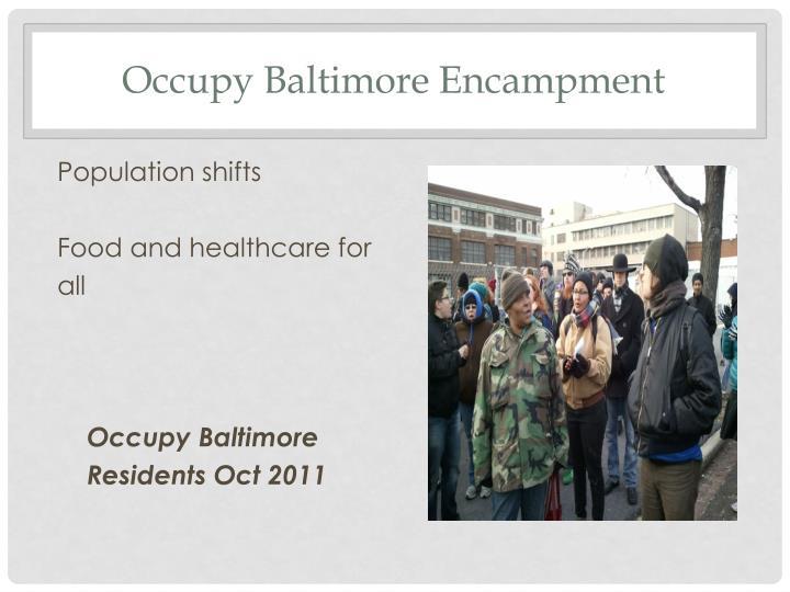 Occupy Baltimore Encampment