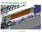 p1 p5 shielding of ujs1