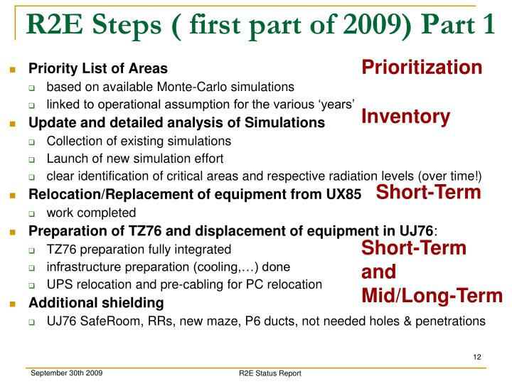 R2E Steps ( first part of 2009) Part 1
