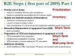 r2e steps first part of 2009 part 1