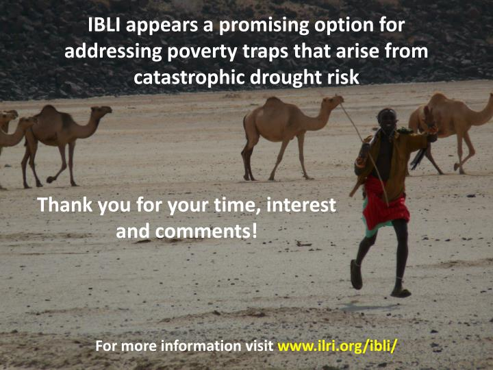 IBLI appears a promising option for addressing