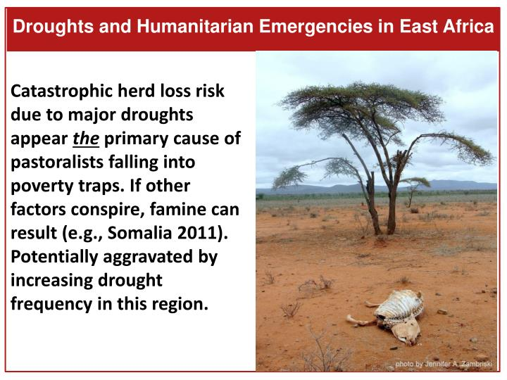 Droughts and Humanitarian Emergencies in East Africa