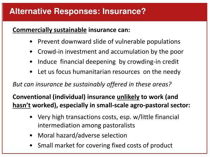 Alternative Responses: Insurance?