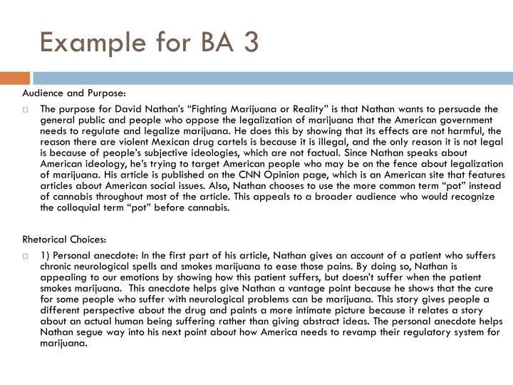 Example for BA 3