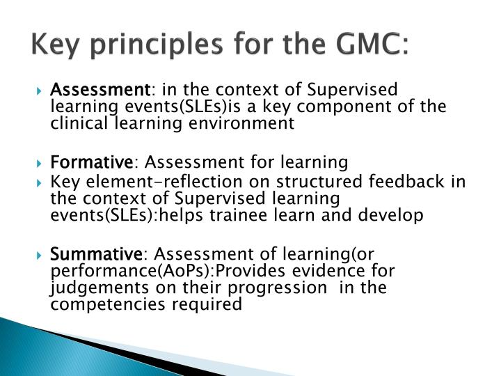 Key principles for the GMC: