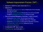 software improvement process sip
