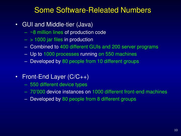 Some Software-
