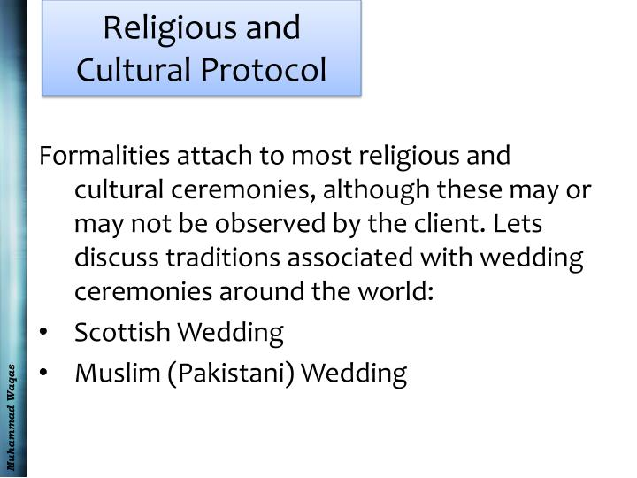 Religious and Cultural Protocol