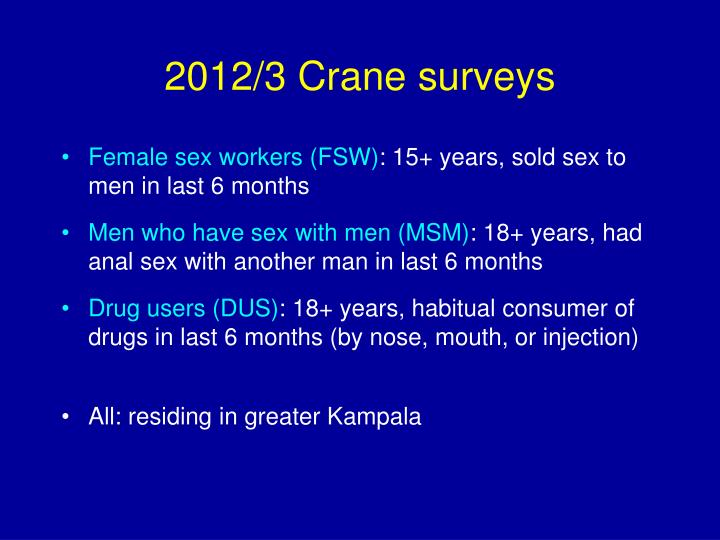 2012/3 Crane surveys