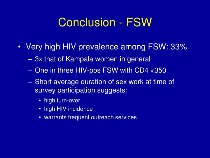 Conclusion - FSW