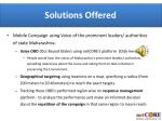 solutions offered
